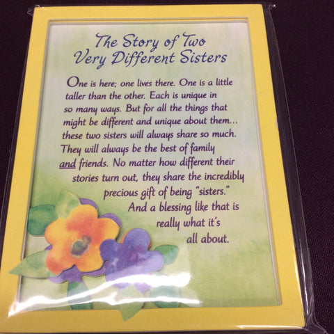"""The Story of Two Different Sisters"" Magnet"