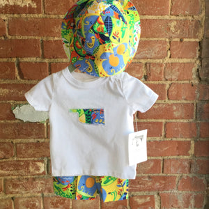 Little Boy Safari Oklahoma T-Shirt and Shorts and Matching Hat