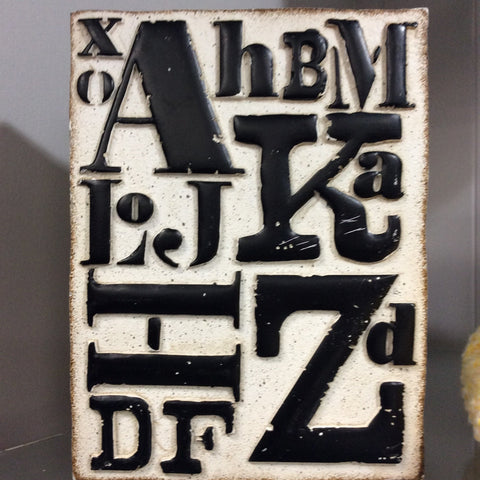 White with Black Letters Wall Decor