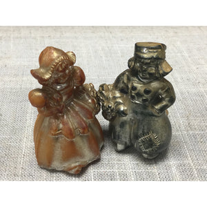 Vintage Hard Plastic Dutch Boy and Girl Salt and Pepper Shakers