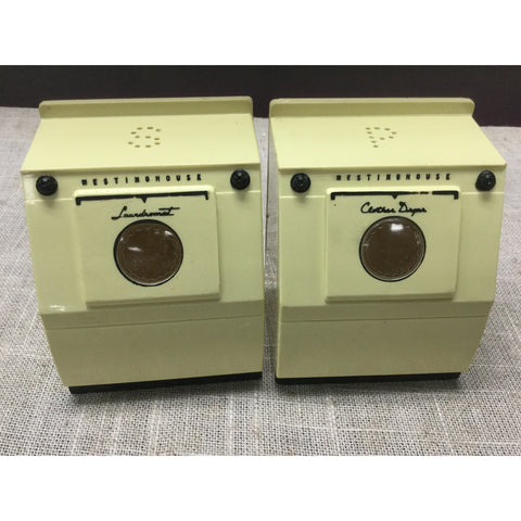 Vintage Westinghouse Laundromat and Clothes Dryer Salt and Pepper Shakers