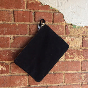 Black Authentic Suede Clutch