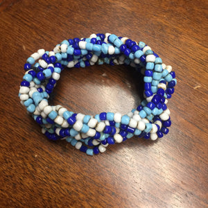Blue Multi strand stretch bracelet