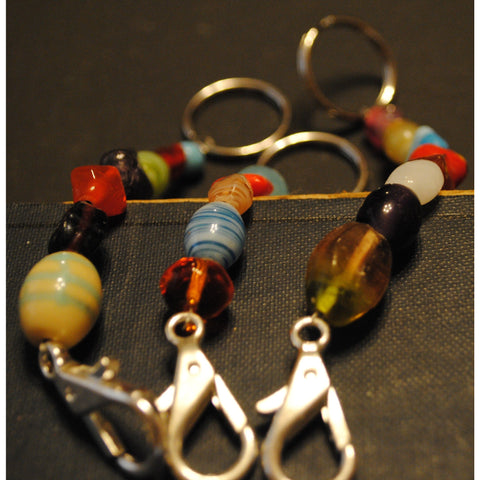 Glass Bead Keychains