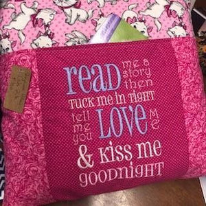 Kiss Me Goodnight Kitty Storybook Pillow