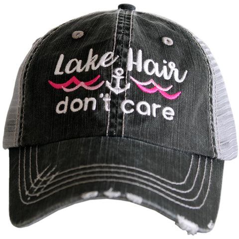 "Lake Hair Don't Care ""Waves & Anchor"" Trucker Hat"