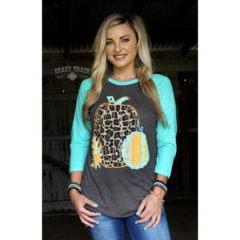 Leaves of Leopard Fall Baseball T-Shirt