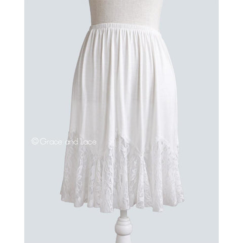 Ivory Lace Flounce Skirt Extender
