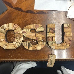 Handmade Cork Small Letter Designs