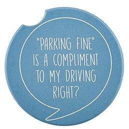 Car Coasters with hilarious sayings