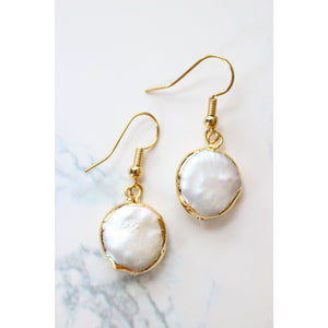 24k Gold Plated Natural Pearl Earrings