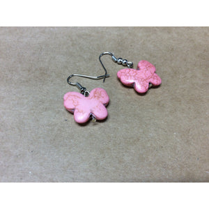 Single Pink Butterfly Earrings