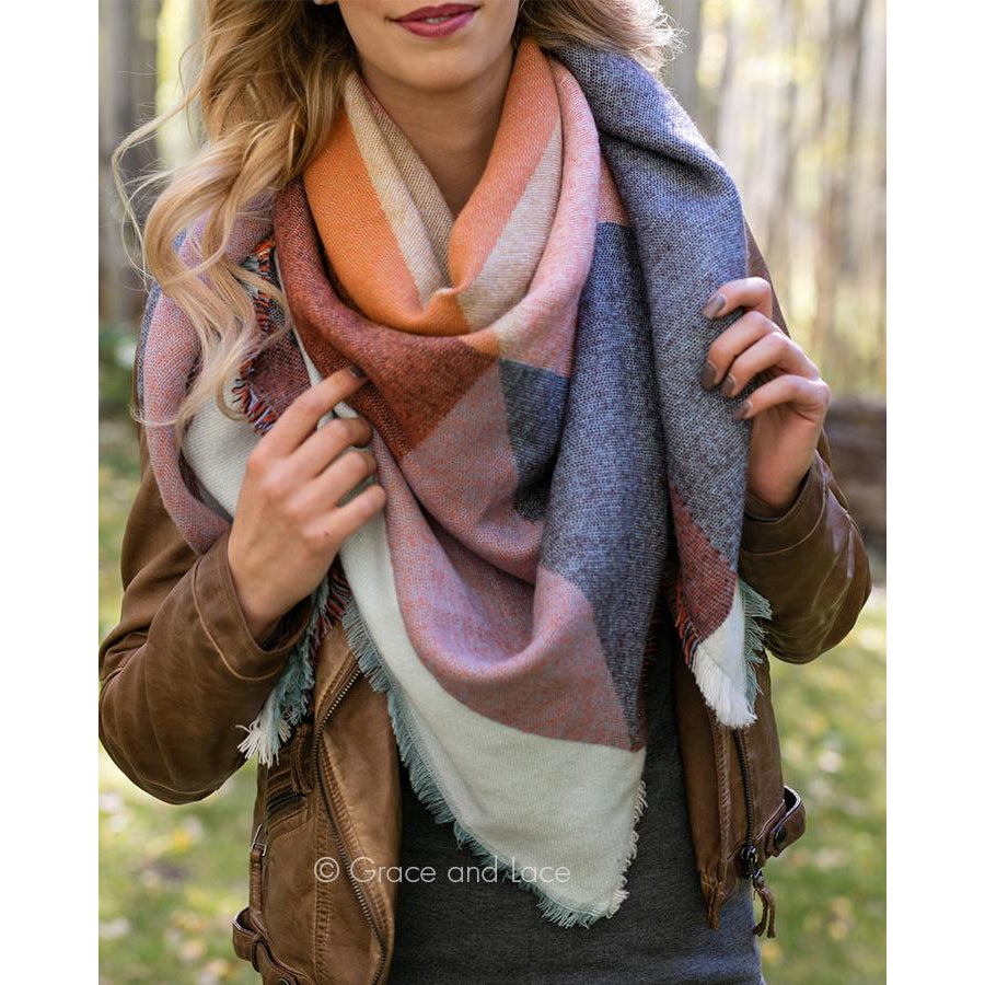 Blanket Scarf/Pinned Poncho