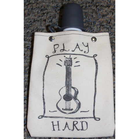 """Play Hard Guitar"" Canvas Bag"