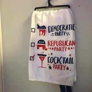 Political Cocktail Party Dish Towels