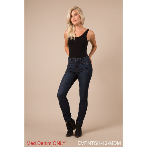 Lady's Medium High Waisted Jeans-Regular and Plus Sizes
