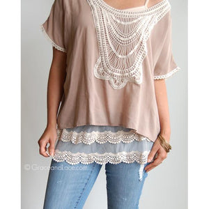 Scalloped Lace Top Extender