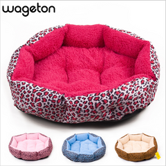 Colorful & Comfy Leopard Print Pet Bed for Puppies, Small Dogs, Kitten & Cats - FOURPAWPALS