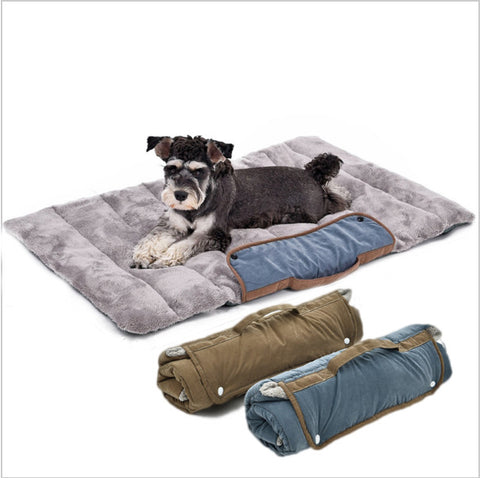Foldable Comfy Easy Storage Travel Pet Bed with a Soft Cushion
