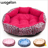 Image of Colorful & Comfy Leopard Print Pet Bed for Puppies, Small Dogs, Kitten & Cats - FOURPAWPALS
