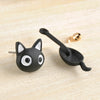 Image of Cute Hanging Kitten / Cat Stud Earrings