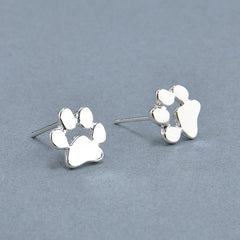 Cute Cat and Dog Paw Stud Earrings