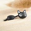Image of Cute Hanging Kitten / Cat Stud Earrings Black