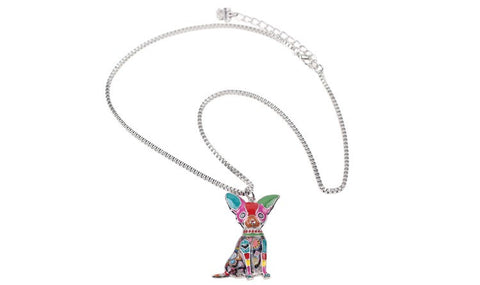 Stylish & Fun Bonsny Chihuahuas Dog Pendant Necklace - FOURPAWPALS