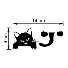 Cute Vinyl Easy to Apply Cat Wall Light Sticker / Light Switch Art Decal