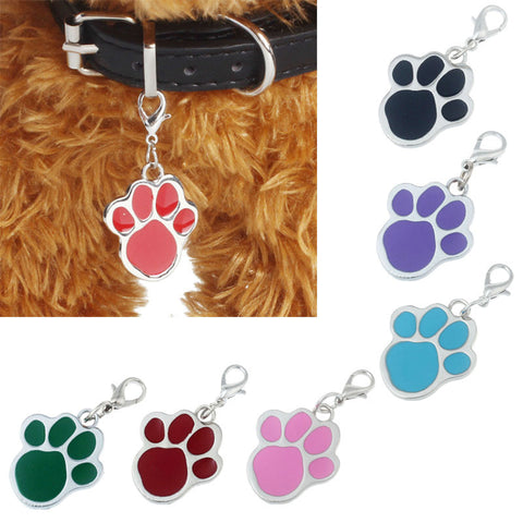 Cute Pet Jewellery for Cats & Dogs - Paw Print Pendant Tags for the Collar - FOURPAWPALS