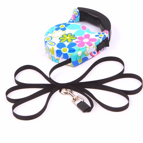 5 Metre Automatic Retractable Pet Puppy & Dog Leash / Lead - Funky Designs - FOURPAWPALS