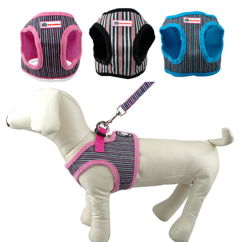 Cute Puppy / Small Dog Coat Style Harness and Walking Leash Set - FOURPAWPALS
