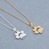 Image of Stylish Footprints Dog and Puppy Paw Pendant Necklace