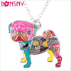 Image of Stylish & Fun Bonsny Pug Dog Pendant Necklace - FOURPAWPALS