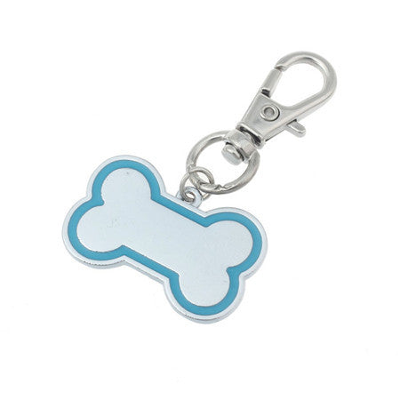 Rhinestone Bone Shape Puppy & Dog Identification Pendant Tag for the Collar - FOURPAWPALS