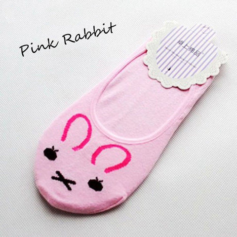 Fashion Funky Dog & Cat Invisible Cotton Socks / Liners for Women & Kids - FOURPAWPALS