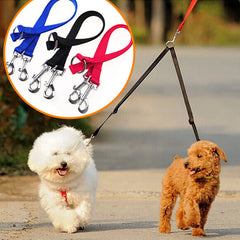 Double Head Design Leash / Lead for Walking 2 Dogs - FOURPAWPALS