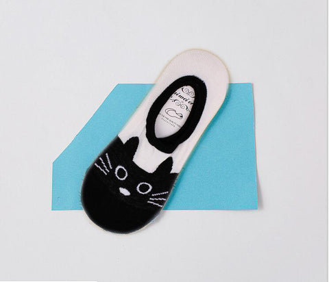 Cute Cat Low Cut Sneaker / Trainer Liner Socks for Women & Kids - FOURPAWPALS
