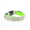 Image of Stylish Adjustable Pet Glow LED Flashing Light Leopard Print Collar Sizes S-XL - for Dogs, Puppies, Cats & Kittens - FOURPAWPALS
