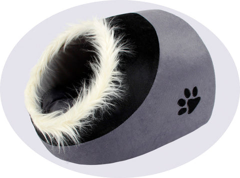 Super Warm Kitten, Cat and Small Dog Cave Bed - FOURPAWPALS