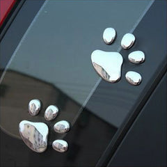 Cute 3D Paw Prints Car Window or Bumper Sticker / Vehicle Decal Decoration - FOURPAWPALS