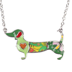 Stylish & Fun Bonsny Dachshund Dog Pendant Necklace