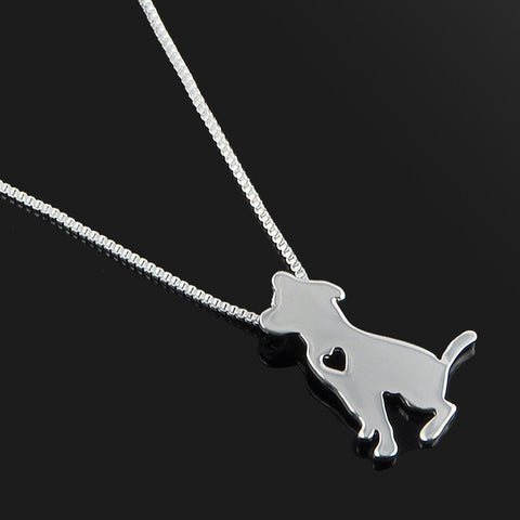 Cute & Stylish Dog Family Stroll Design Pendant Necklace - Different Breed Designs Jack Russell Terrier