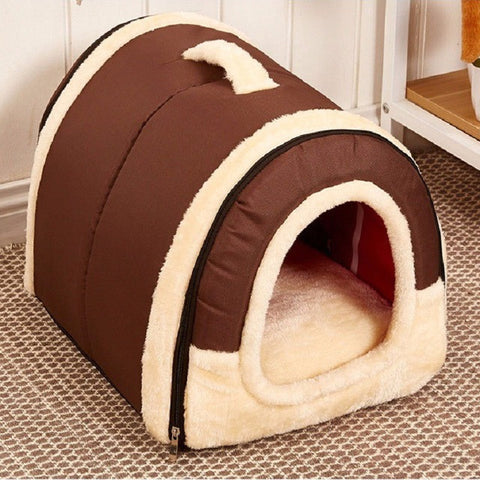 Multi-functional Pet House Hideaway with Foldable Mat for Small / Medium Dogs and Cats - FOURPAWPALS