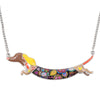 Image of Stylish & Fun Bonsny Dashing Dachshund Dog Pendant Necklace - FOURPAWPALS