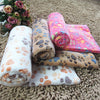 Image of Super Soft Pet Puppy, Dog, Kitten & Cat Paw Print Fleece Bed Blanket - Small to Large Pets - FOURPAWPALS