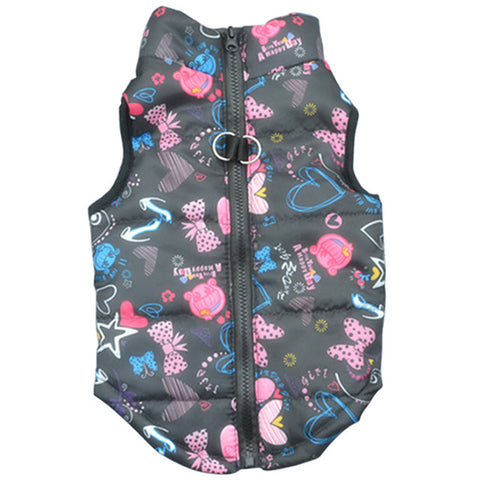 Funky Warm Autumn / Winter Windproof Padded Pet Dog Coat / Jacket - FOURPAWPALS