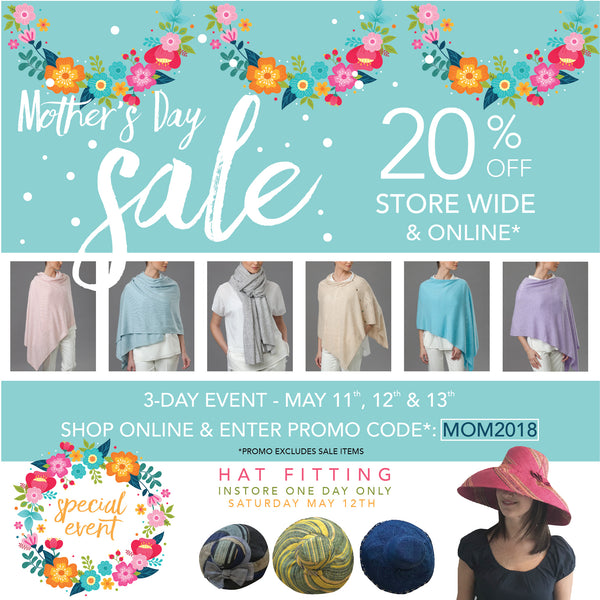 Mother's Day Sale 3-Day Event 20% Off Store Wide