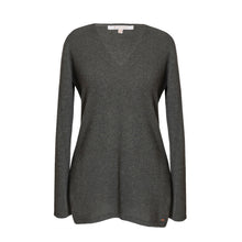 Load image into Gallery viewer, Grey Cashmere Tora V Neck Sweater
