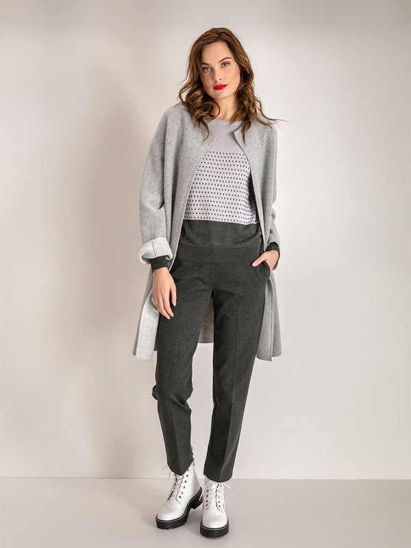 Stretch Cigarette Pants - Anthracite Grey